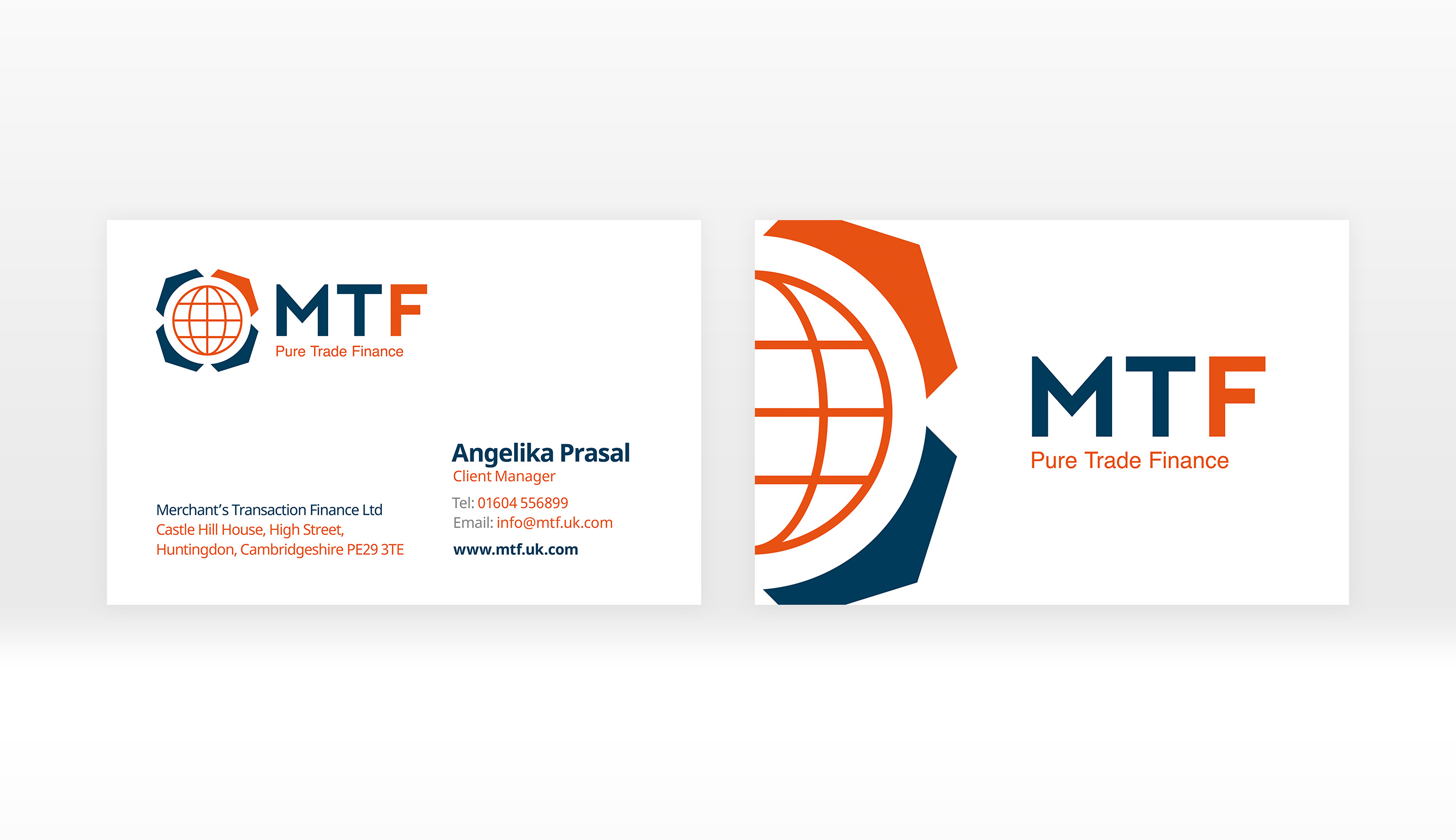 Mtf logo brand and print design mtf business card design previous project reheart Images
